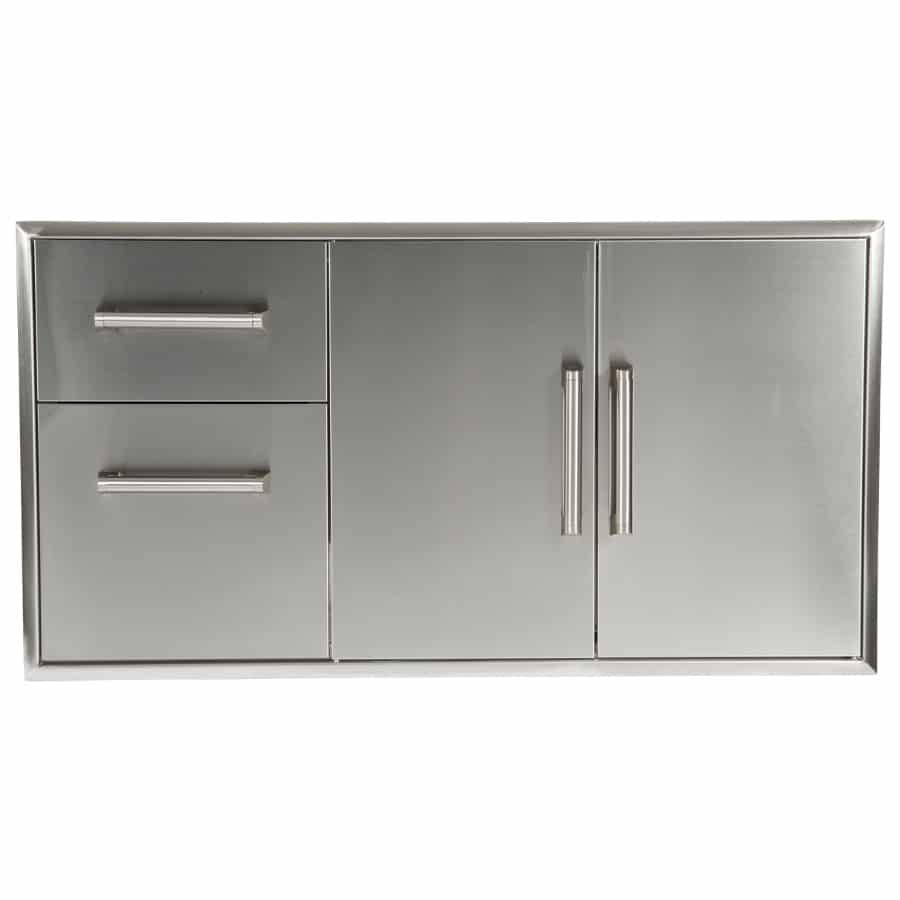 Combination Storage: Two Drawer Cabinet & Double Access Doors (Model: CCD-2DC)