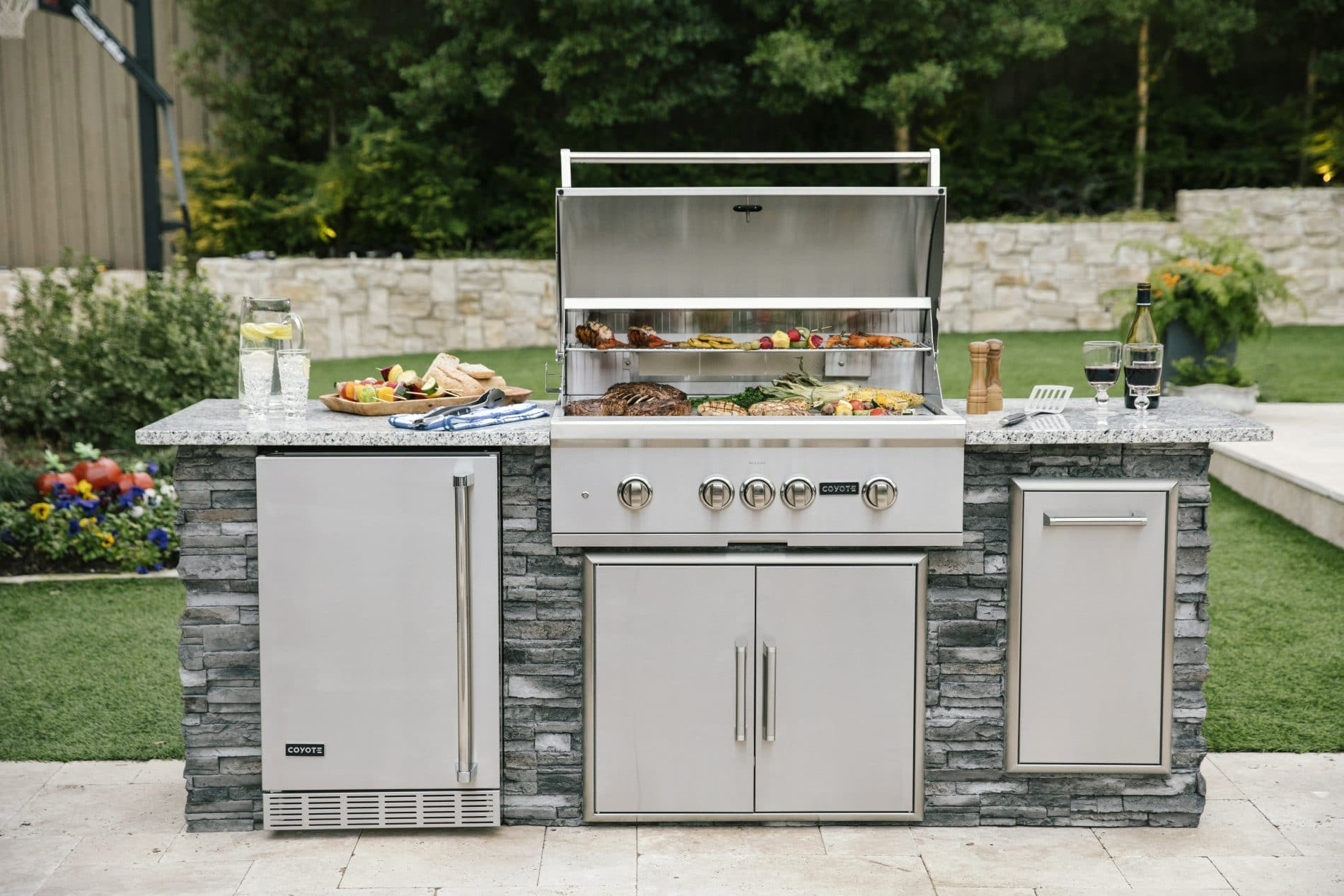 Coyote Outdoor Kitchen with Built-In C-Series Grill
