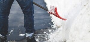 Snow Shoveling Outdoor Space